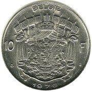 10 Francs - Baudouin I (Dutch text) -  reverse