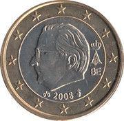 1 Euro - Albert II (2nd map, 2nd type, 2nd portrait) -  obverse