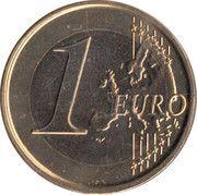 1 Euro - Albert II (2nd map, 2nd type, 2nd portrait) -  reverse