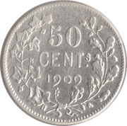 50 Centimes - Léopold II (French text) -  obverse