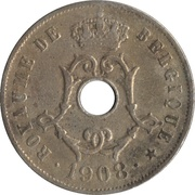 25 Centimes - Léopold II (french text) – obverse