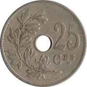 25 Centimes - Léopold II (French text) – reverse