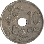 10 Centimes - Albert I (French text) -  reverse