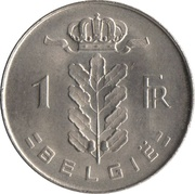 1 Franc - Baudouin I (Dutch text) -  reverse