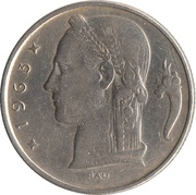 5 Francs - Baudouin I (Dutch text) -  obverse