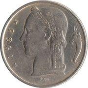 5 Francs - Baudouin I (Dutch text) – obverse