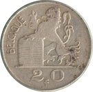 20 Francs - Baudouin I (French text) – reverse