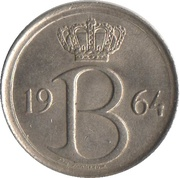 25 Centimes - Baudouin I (French text) -  obverse