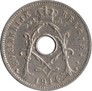 5 Centimes - Albert I (Dutch text) – obverse