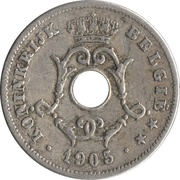 10 Centimes - Léopold II (Dutch text - Large date) – obverse