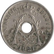 25 Centimes - Albert I (Dutch text) -  obverse