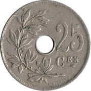25 Centimes - Albert I (Dutch text) -  reverse