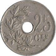 25 Centimes - Albert I (dutch text) – reverse