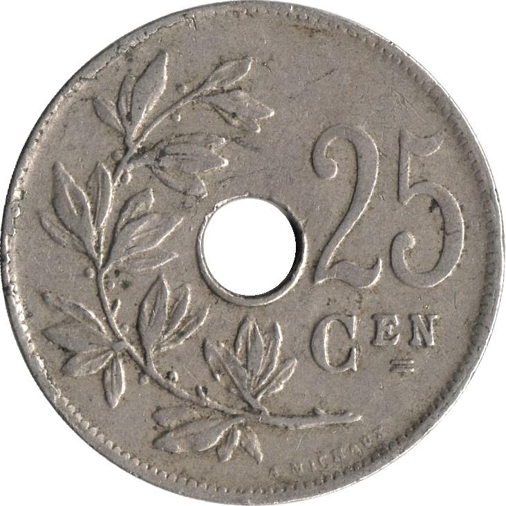 25 centimes - albert i  dutch text