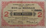 Rumillies 2 Franc 1914 – obverse