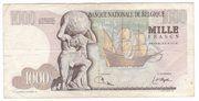 1000 Francs - Mercator – reverse