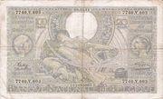 100 francs - 20 Belgas Type 1933 Recto français – obverse