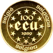 100 Écu - Baudouin I (Maria Theresia; Piedfort) – reverse