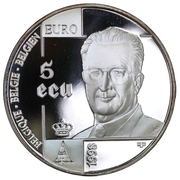 5 Écu - Albert II (Human Rights) – obverse