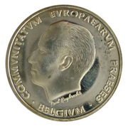 5 Écu - Baudouin I (Presidency of the EU) – obverse