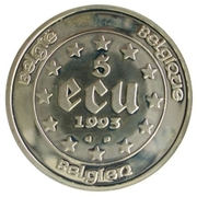 5 Écu - Baudouin I (Presidency of the EU) – reverse
