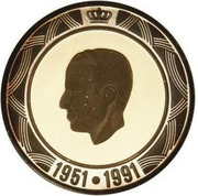20 ECU- Baudoin I (40th Anniversary of Baudouin I reign) – obverse