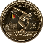 2,50 Euro (Olympics Games Antwerp 1920, coloured) – reverse