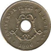 5 Centimes - Léopold II (Dutch text; large date) -  obverse