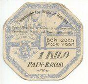 Bon pour/Goed voor 1 kilo de pain/brood - Ville de Gand -  reverse