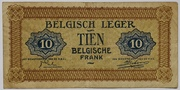 10 Francs (Army Issue) – reverse
