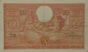 100 Francs / 20 Belgas – reverse