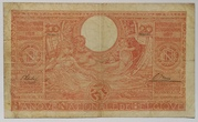 100 francs - 20 belgas Type 1933 Orange - Recto en néerlandais – reverse