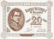 20 francs Comptes courants – obverse