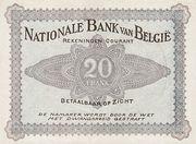 20 francs Comptes courants – reverse