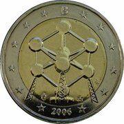2 Euro - Albert II (Brussels Atomium) -  obverse