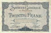 20 Francs - Société Générale – reverse