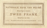 2 Francs (Comptes courants) – reverse