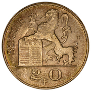 20 Francs - Baudouin I (French text) -  obverse