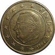 50 Euro Cent - Albert II (1st map, 1st type, 1st portrait) -  obverse