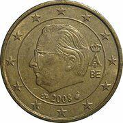 50 Euro Cent - Albert II (2nd map, 2nd type, 2nd portrait) -  obverse