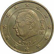50 Euro Cent - Albert II (2nd map, 2nd type, 1st portrait) -  obverse