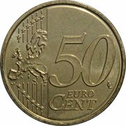 50 Euro Cent - Albert II (2nd map, 2nd type, 1st portrait) -  reverse
