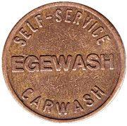 Car Wash Token - Egemin (Schoten) – reverse