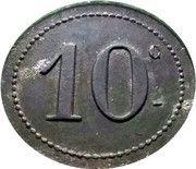 10 Centimes - Bolssens-Vanlaer – reverse