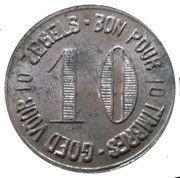 10 Centimes -  Delhaize Freres – reverse