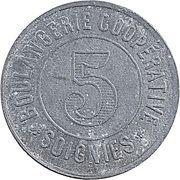 5 Centimes - Boulangerie (Soignies) – reverse