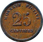 25 Centimes - Monnaie Fictive (Velvorde, Monnaie Pénitentiaire) – reverse