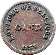 1 Centime - Monnaie fictive (Gand) – obverse