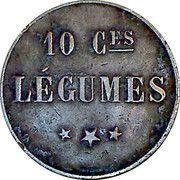 10 Centimes - Légumes – reverse