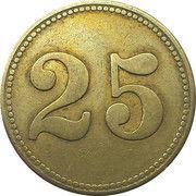 25 Centimes - Aux Deux Maisons (Evere)RE – reverse